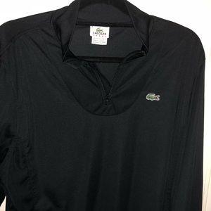 Men's Lacoste thin half zip size 8 (XL) Black